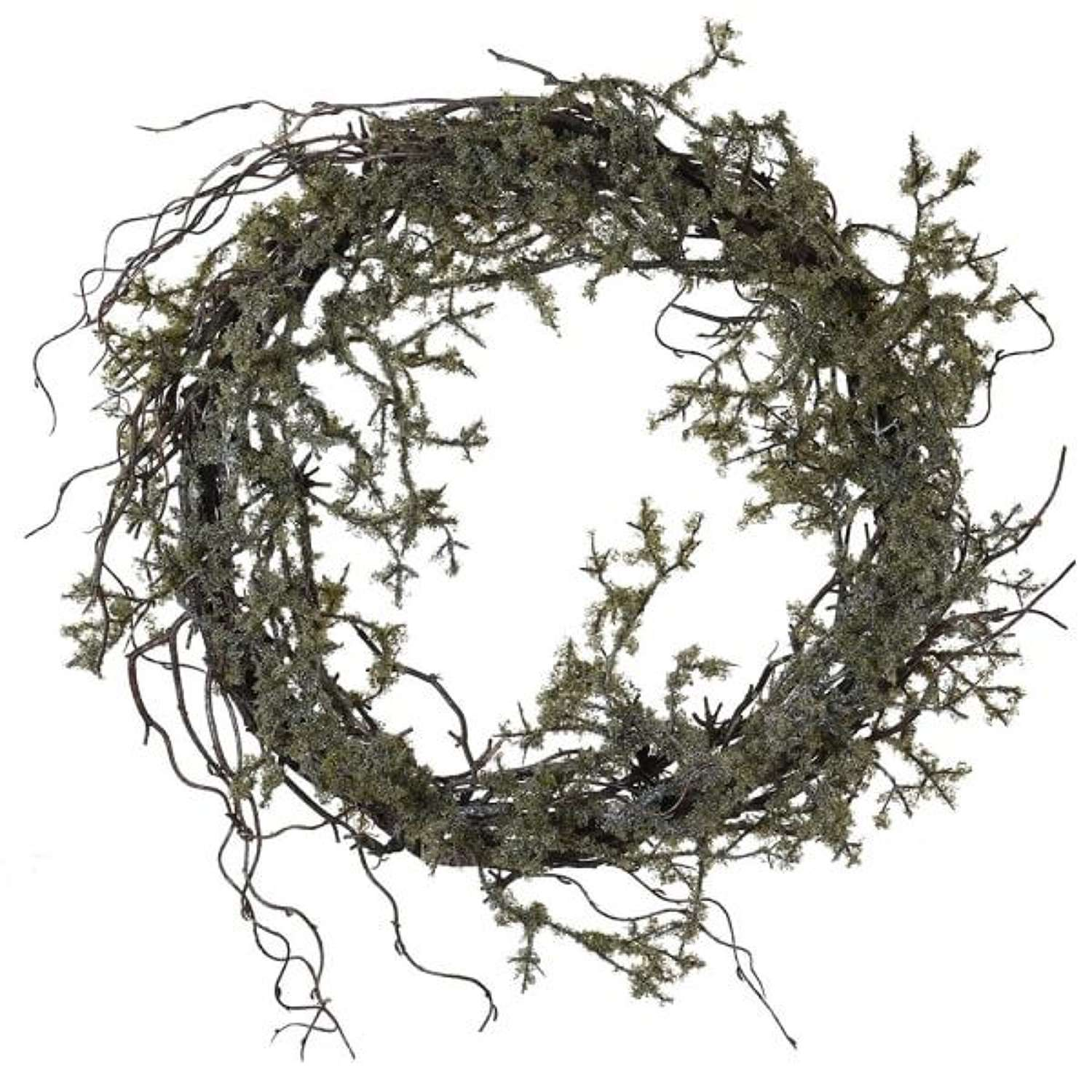 Twig with Moss Wreath
