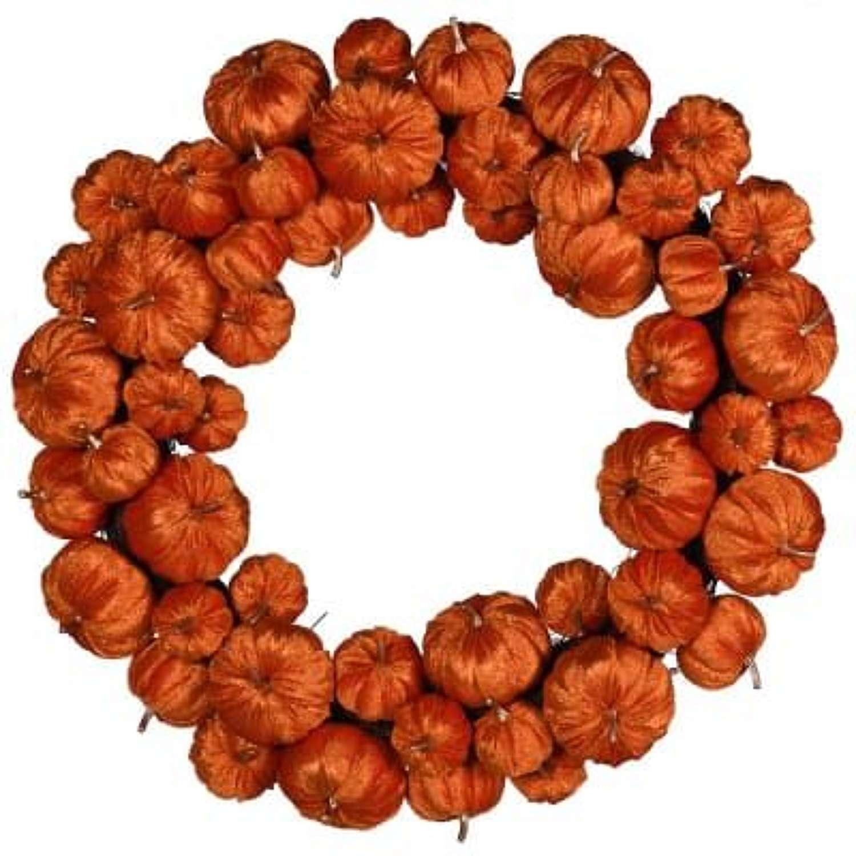Orange Velvet Pumpkin Wreath